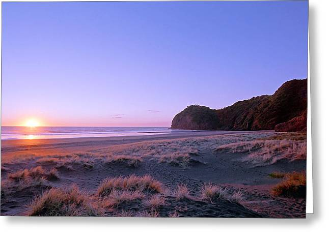 Kevin Smith Greeting Cards - North Piha Sunset Greeting Card by Kevin Smith