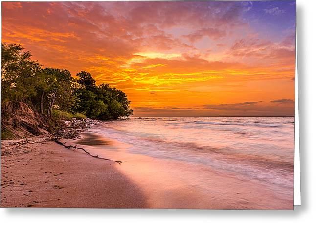 Bradford Greeting Cards - North Point Sunrise Greeting Card by Andrew Slater