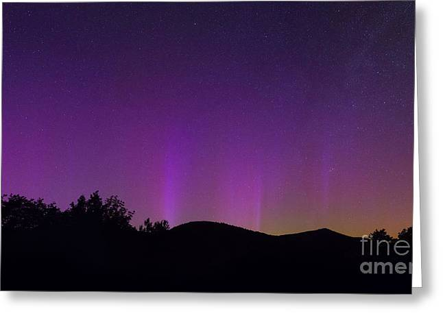 Little Dipper Greeting Cards - North Pole Northern Lights Greeting Card by Michael Ver Sprill