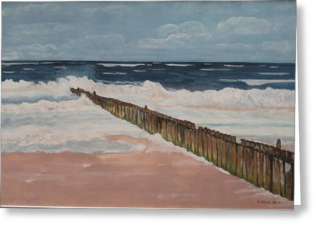 North Sea Sylt Greeting Card by Antje Wieser