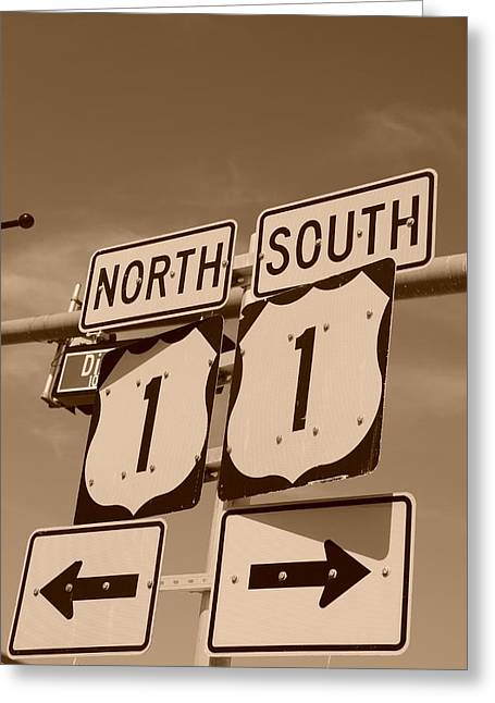 Us1 Greeting Cards - North South 1 Greeting Card by Rob Hans