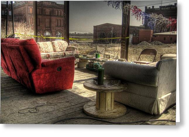 North St. Louis Porch Greeting Card by Jane Linders