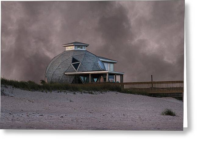 Foggy Ocean Greeting Cards - North Topsail Beach Dome Greeting Card by Betsy C  Knapp