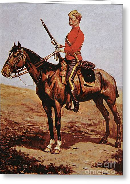 North West Mounted Police Of Canada Greeting Card by Frederic Remington