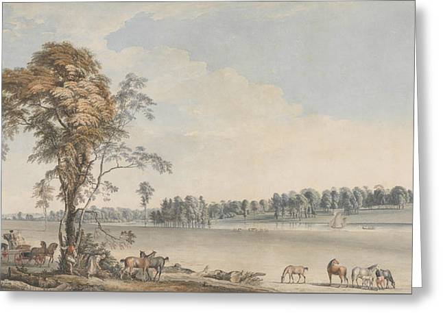North West View Of Wakefield Lodge In Whittlebury Forest, Northamptonshire Greeting Card by Paul Sandby