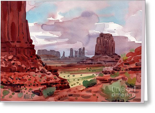North Window View Greeting Card by Donald Maier