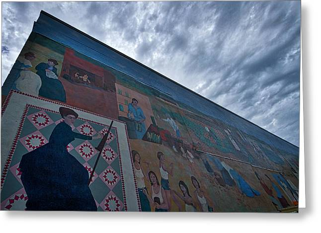 Local Painter Greeting Cards - Northampton Women Mural Greeting Card by Stuart Litoff