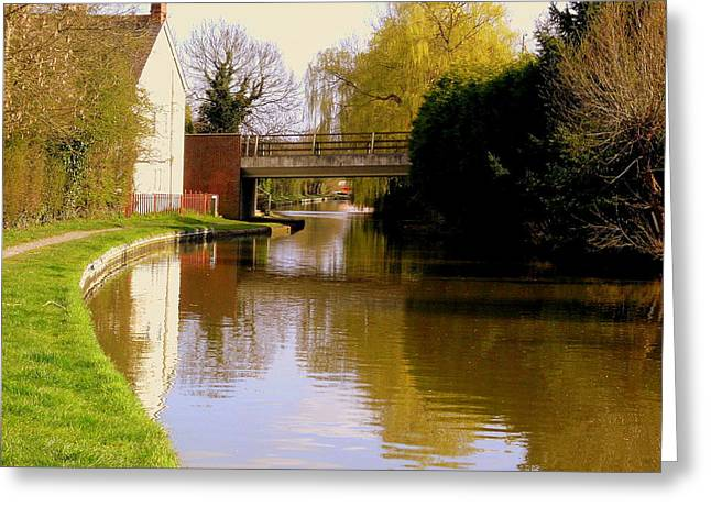 Northamptonshire Greeting Cards - Northamptonshire Canal in England Greeting Card by Mindy Newman