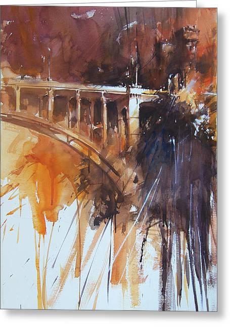 Northbridge Sydney Greeting Card by Tony Belobrajdic