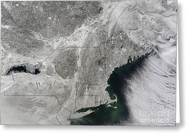 Storm Clouds Cape Cod Greeting Cards - Northeast Winter 2015 Greeting Card by Science Source