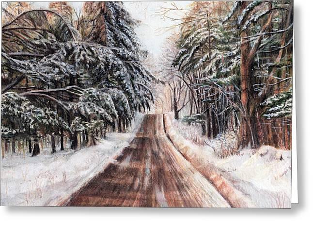 Northeast Winter Greeting Card by Shana Rowe Jackson