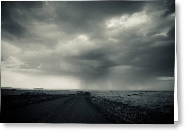 Thunderstorm Greeting Cards - Northern Arizona Thunderstorm Greeting Card by Scott Sawyer
