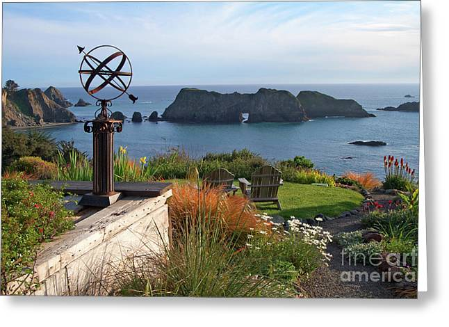 Best Sellers -  - Weathervane Greeting Cards - Northern California Coast View Greeting Card by Charlene Mitchell