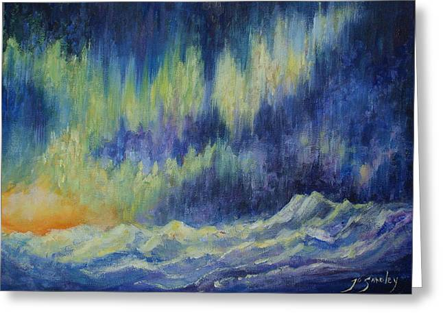 Sun Rays Paintings Greeting Cards - Northern Experience Greeting Card by Joanne Smoley