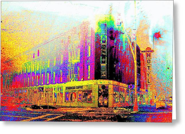 Northern Hotel Greeting Card by Jeff Gibford