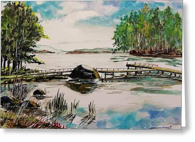 Northern Lake Greeting Card by John Williams