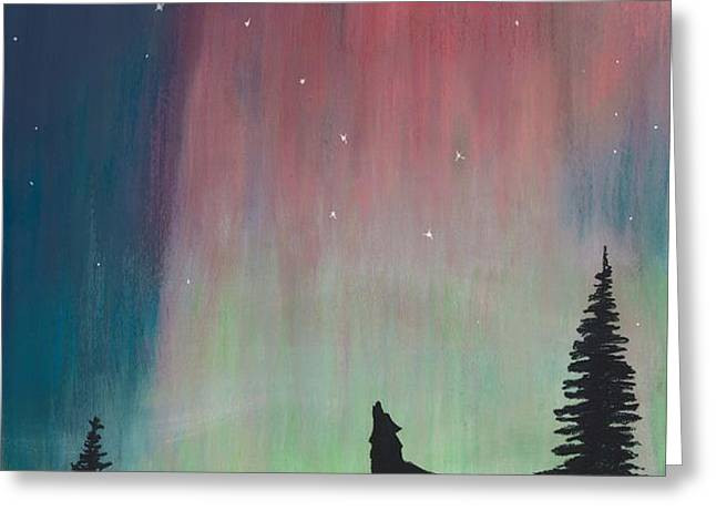 Northern Lights Stardust Greeting Card by Jackie Novak