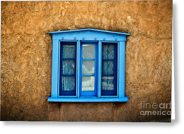Adobe Greeting Cards - Northern New Mexican Windows Greeting Card by Ray Laskowitz - Printscapes