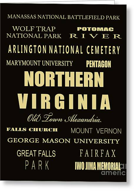 Centreville Greeting Cards - Northern Virginia Subway Tram Bus Scroll Art Greeting Card by Dave Lynch
