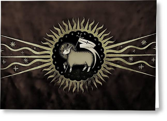 Northleach Wool Church Greeting Card by Stephen Stookey