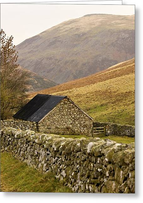 Farm Structure Greeting Cards - Northumberland, England Stone House Greeting Card by John Short