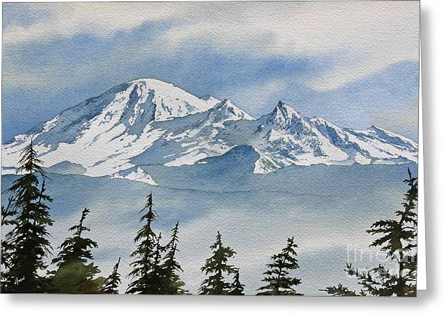 Landscape Framed Prints Greeting Cards - Northwest Mountain Greeting Card by James Williamson