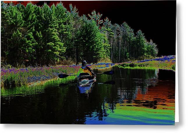 Sue Duda Greeting Cards - Northwoods Peace Greeting Card by Sue Duda