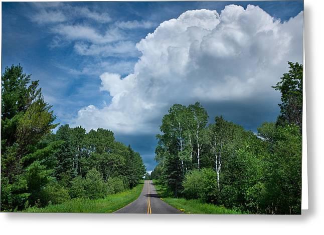 Northwoods Greeting Cards - Northwoods Road Trip Greeting Card by Steve Gadomski