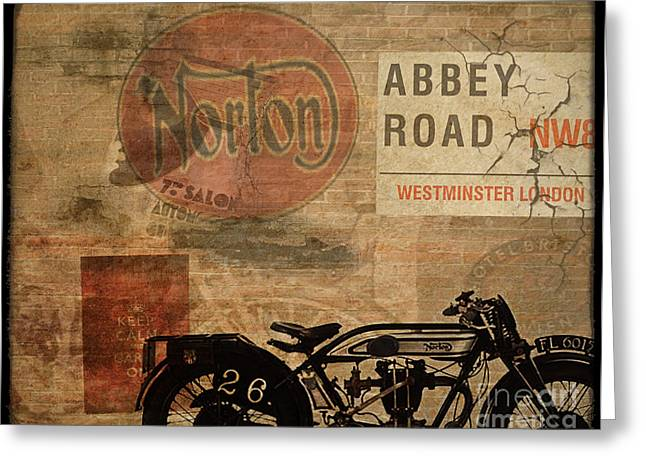 Motorcycles Greeting Cards - Norton Greeting Card by Cinema Photography