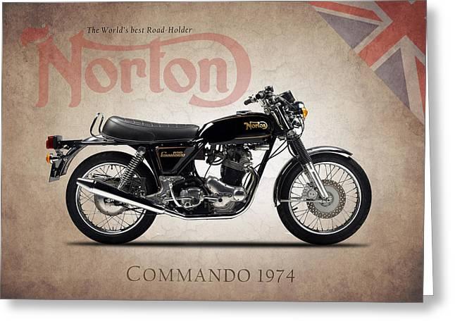 Norton Commando 1974 Greeting Card by Mark Rogan