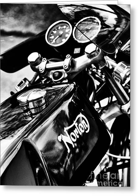 Commandos Greeting Cards - Norton Commando 750 Cafe Racer Greeting Card by Tim Gainey