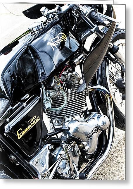 Commandos Greeting Cards - Norton Commando 750cc  Greeting Card by Tim Gainey