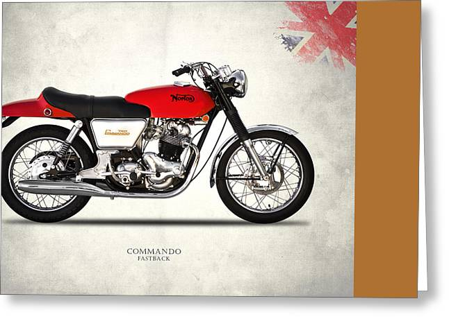 Norton Commando Fastback Greeting Card by Mark Rogan