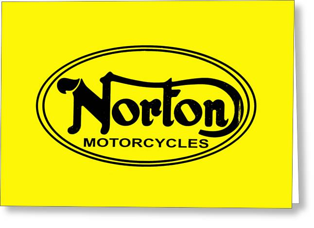 Vintage Sign Greeting Cards - Norton Motorcycles Greeting Card by Mark Rogan