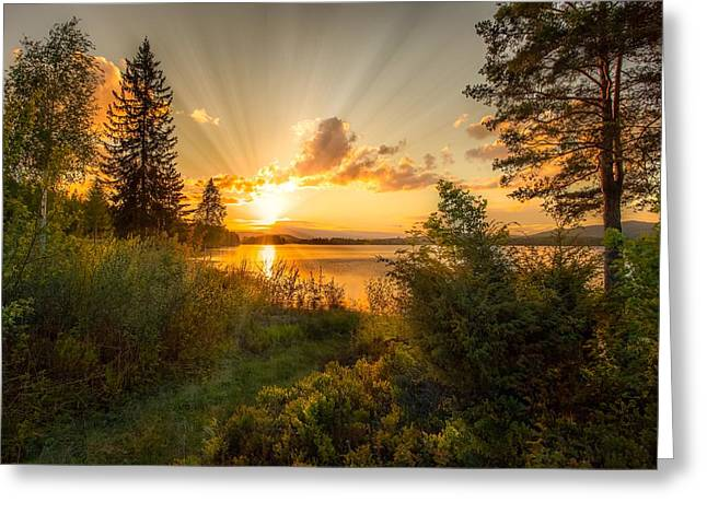 Norwegian Landscape Greeting Card by Rose-Maries Pictures