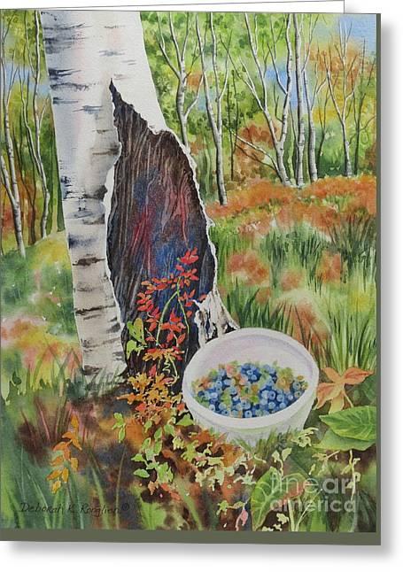 Norwegian Wood Greeting Card by Deborah Ronglien