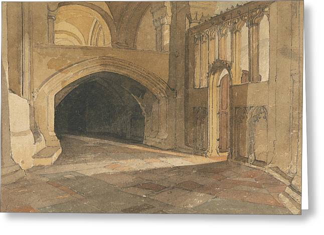 Norwich Cathedral - Entrance To Jesus Chapel Greeting Card by John Sell Cotman