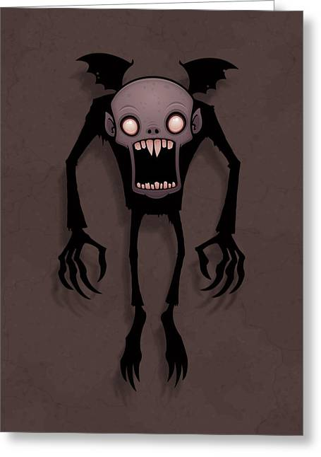 Halloween Greeting Cards - Nosferatu Greeting Card by John Schwegel