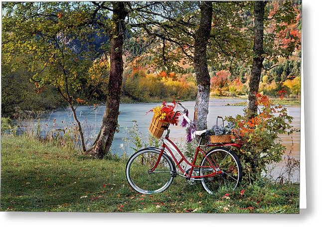 Nostalgia Autumn Greeting Card by Leland D Howard