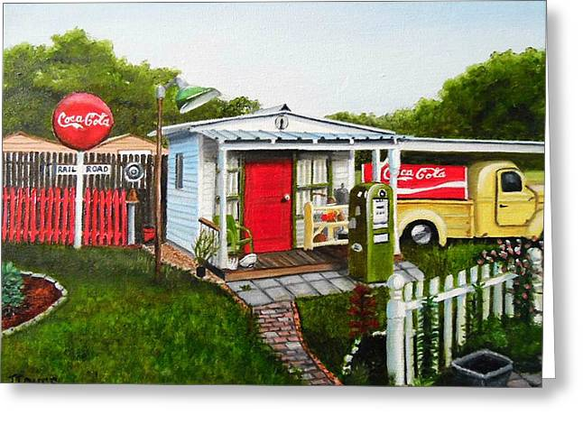 Shack Greeting Cards - Nostalgia Love Greeting Card by Janet Guss