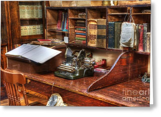 Historical Pictures Greeting Cards - Nostalgia Office 2 Greeting Card by Bob Christopher