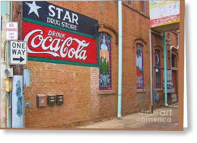 Star Drug Store Greeting Cards - Nostalgic Alley Greeting Card by Venus