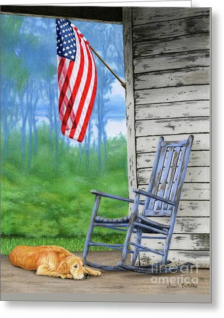 Country Pride Greeting Card by Sarah Batalka