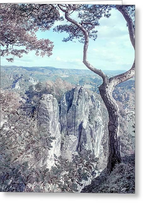 Nostalgic Romantic. Saxon Switzerland Greeting Card by Jenny Rainbow