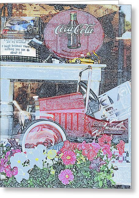 Nostaligic Greeting Cards - Nostaligic Window display 2  Greeting Card by Gary Brandes