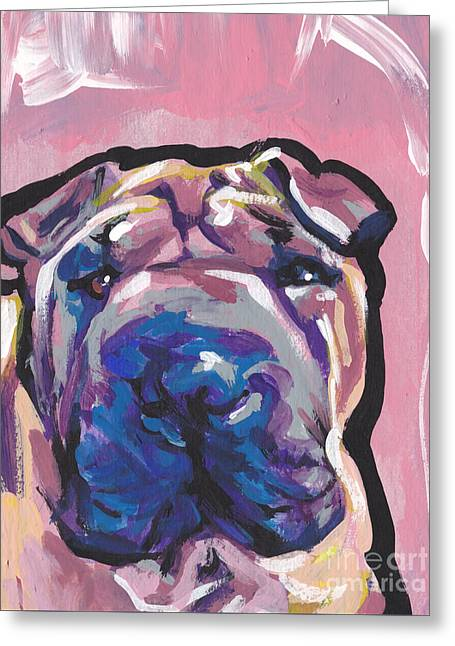 Chinese Dogs Greeting Cards - Not A hippo- Just Hip Greeting Card by Lea