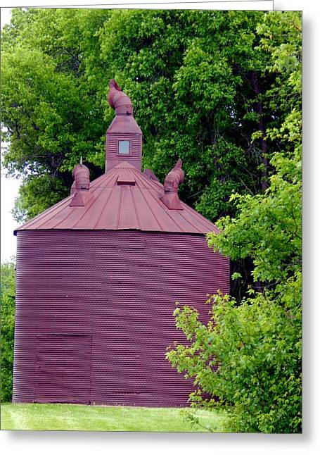 Outbuildings Greeting Cards - Not a Little Brown Jug Greeting Card by Wild Thing