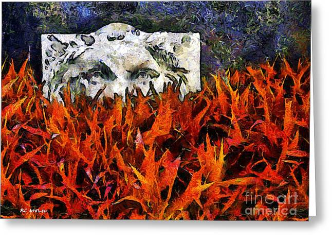 Lions Greeting Cards - Not Dead Yet Greeting Card by RC deWinter