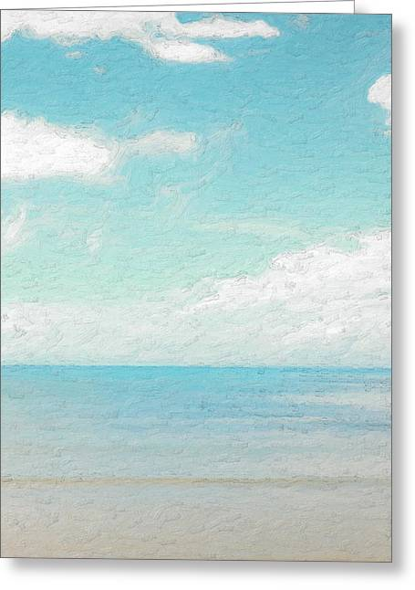 Ultra Modern Greeting Cards - Not quite Rothko - Azure Greeting Card by Serge Averbukh