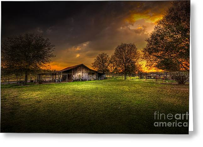 Barn Yard Photographs Greeting Cards - Not The Last Storm Greeting Card by Marvin Spates